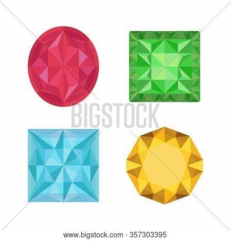 Vector Gemstones - Luxury Brilliants, Topaz, Emerald, Opal.