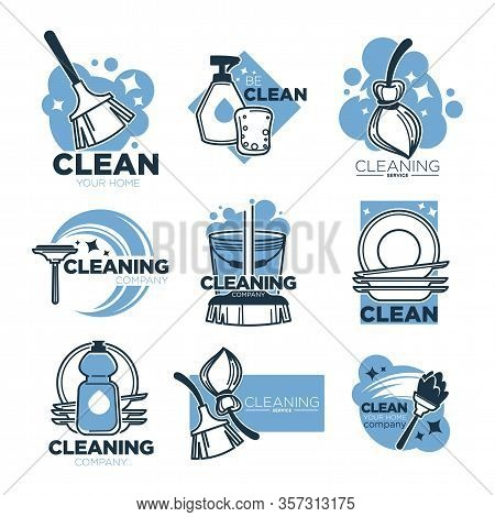 Cleaning Service Isolated Icons, Clean Tools For Housekeeping