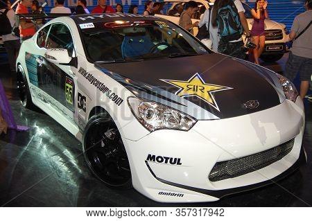 Pasay, Ph - Apr. 1: Hyundai Genesis At 8th Manila International Auto Show On April 1, 2012 In World