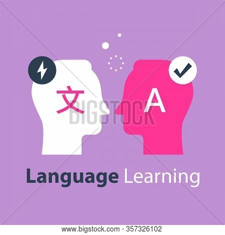 Language Learning, Translate Concept, International Communication, Linguistics Coarse, Bilingual Tut