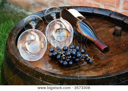 Wood Wine Barrel