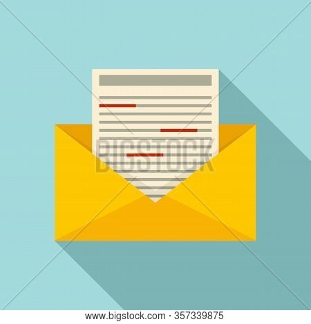 Office Mail Editor Icon. Flat Illustration Of Office Mail Editor Vector Icon For Web Design