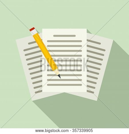Edit Education Papers Icon. Flat Illustration Of Edit Education Papers Vector Icon For Web Design
