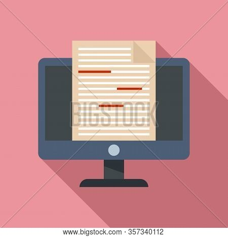 Journalist Editor Icon. Flat Illustration Of Journalist Editor Vector Icon For Web Design
