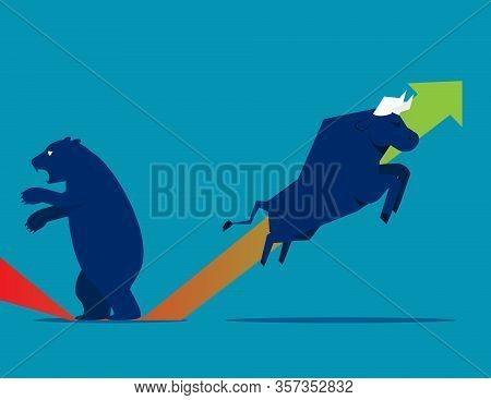 Bull Bear Market Presents Downtrend Stock Market
