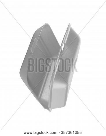 Styrofoam Container Empty Isolated On A White Background