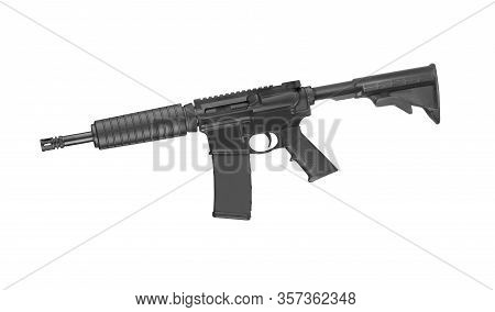 Special Forces Rifle M4 Isolated On A White Background