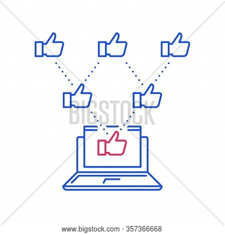 Social Media Marketing, Viral Content, Spread Information, Advertisement Promotion, Like Thumbs Up,