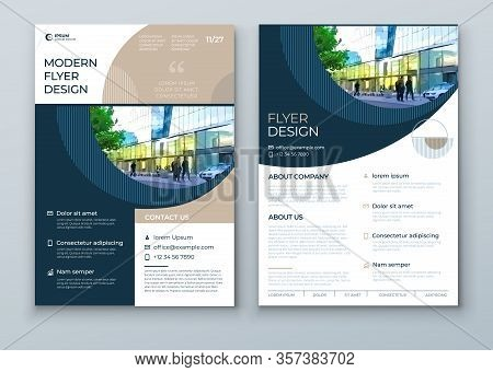 Flyer With Minimal Geometric Design. Modern Abstract Background For Brochure, Placard, Poster, Flyer