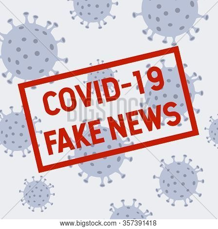 Coronavirus Fake News Illustration. Mers-cov (middle East Respiratory Coronavirus Syndrome), New Cor