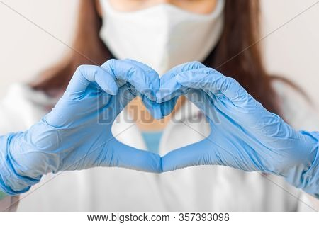 Stop Sars-cov, Sarscov, Virus 2020 , Mers-cov , Chinese Virus Covid-19. Closeup Womens Hand In Blue