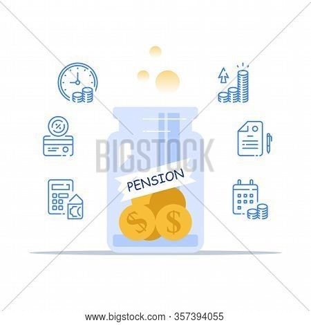 Pension Fund Management, Savings Account, Superannuation Payment, Retirement Plan, Future Income, In