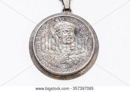 5 Mark Silbermuenze 1908 Sachsen-weimar-eisenach 350 Jahre Uni Jena Rueckseite Silver Coin At A Chai