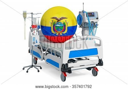 Ecuadorian Healthcare, Icu In Ecuador. 3d Rendering Isolated On White Background
