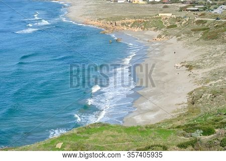 View Of The San Giovanni Beach In Cabras