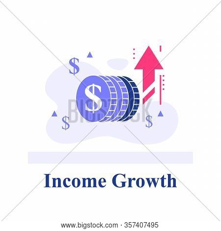Blue Chip Company Concept, Fast Financial Growth, Quick Business Revenue Increase, Successful Invest