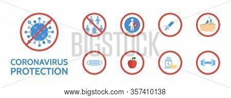 Coronavirus Protection Banner. Novel Coronavirus 2019-ncov. Corona Virus Stop. Virus Covid 19-ncp. D