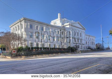 Columbia, South Carolina/united States- January 7: Bratton Davis Bankruptcy Courthouse In Columbia,