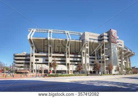 Columbia, South Carolina/united States- January 7: View Of William Brice Stadium In Columbia, South