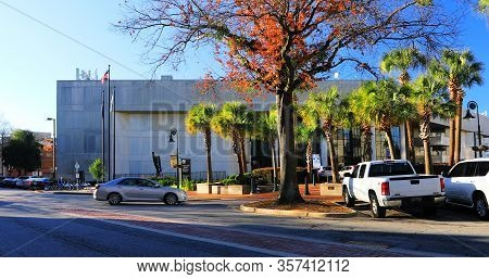 Columbia, South Carolina/united States- January 7: Richland County Judicial Center In Columbia, Sout