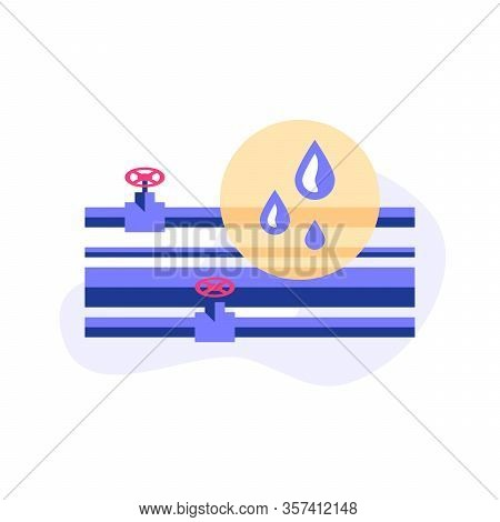 Plumbing Service Concept, Inspection Or Finding Problem, Repair Leaking Tubes, Central Waterline, Im