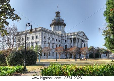 Columbia, South Carolina/united States- January 7: South Carolina Statehouse In Columbia, South Caro