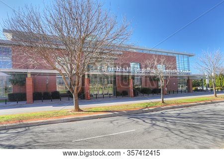 Columbia, South Carolina/united States- January 7: Columbia Metropolitan Convention Center In South