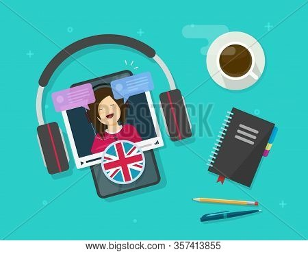 Learn English Online On Cellular Phone Or Study Foreign Language On Mobile Smartphone Education Less