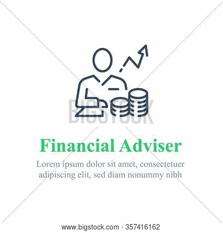Financial Adviser, Stock Market Analysis And Investment Strategy, Trust Or Wealth Management, Vector