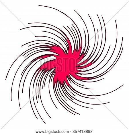 Swirling Radial Pattern Background. Vector Illustration For Swirl Design. Vortex Starburst Spiral Tw