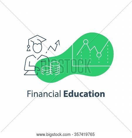 Financial Education Concept, Stock Market Analysis And Investment Course, Long Term Strategy Adviser