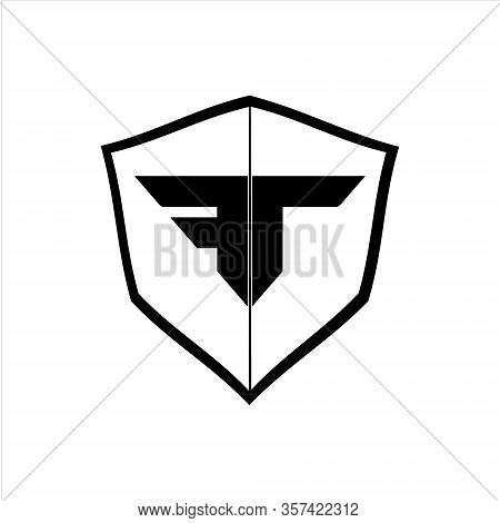 Shield Protection System Technology, Black And White Shields. Vector Icon. Eps Illustration 10.
