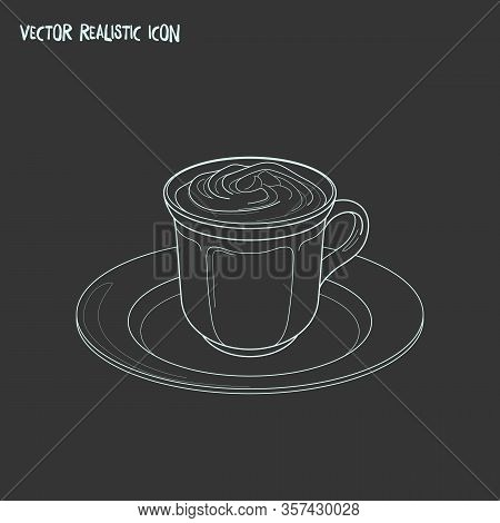 Mocha Icon Line Element. Illustration Of Mocha Icon Line Isolated On Clean Background For Your Web M