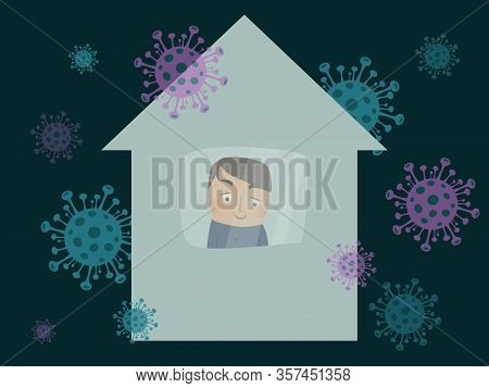 I Stay At Home Awareness Social Media Campaign And Coronavirus Prevention.protection From 2019-ncov,