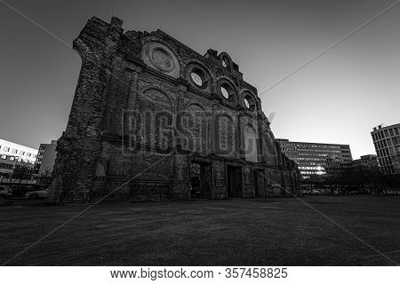 Berlin - March 22, 2020: Remains Of Anhalter Bahnhof, Is A Former Railway Terminus In Berlin (it Was