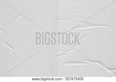 Crumpled White Paper. Abstract Background For The Designer.