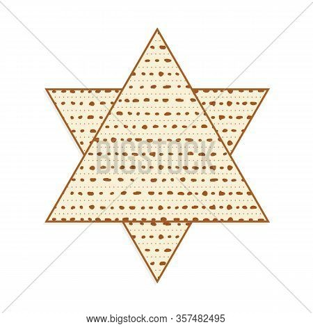 Matzah As Star Of David, Triangular Matzot In Star Of David Shape, Pesach Unleavened Bread, Jewish H
