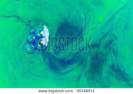 Watercolor water.  paint. macro shot