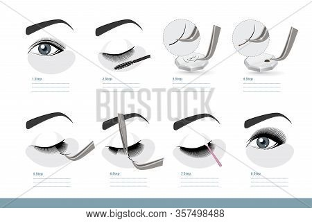 Eyelash Extension Procedure. How To Apply Eyelash Extensions Step By Step. Full Tutorial On Applicat