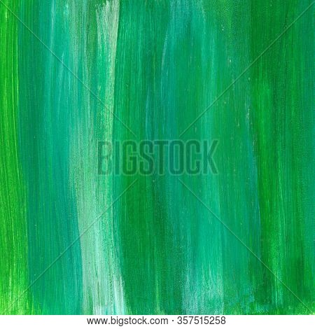 Square Grass Green Abstract Watercolor Textured Background.