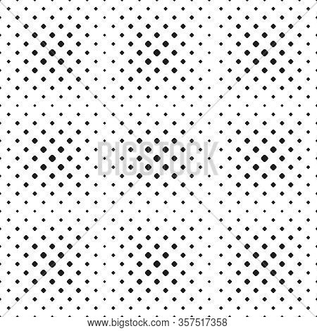 Seamless Halftone Spot Pattern Of Rounded Squares On White Background. Contrasty Halftone Background