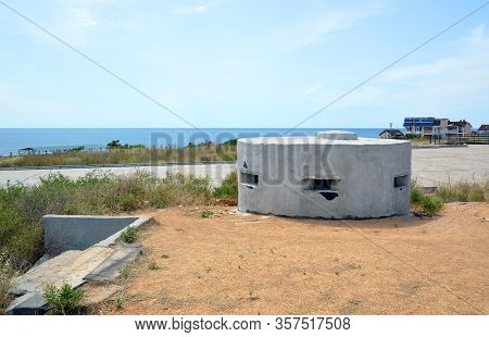 Sevastopol, Crimea - July, 2019: Command And Rangefinder Post (kdp) For Battery No. 723 In The Terri