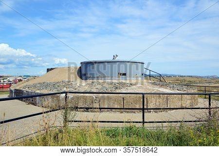 Sevastopol, Crimea - July, 2019: The Left (spare) Command Rangefinder Post (kdp) Of The 35th Battery
