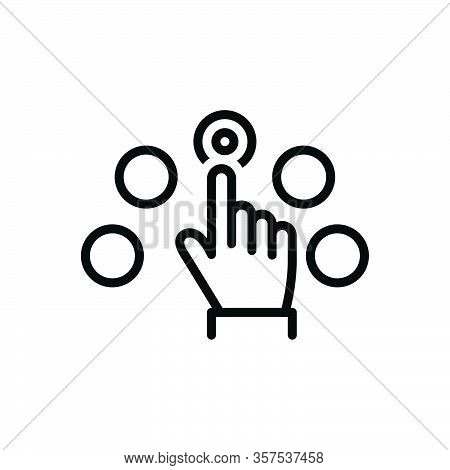 Black Line Icon For Per-click-pay Per Click Pay Marketing Touch Browser Gesture