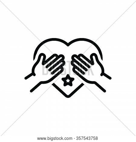 Black Line Icon For Honest Upright Sincere Conscientious Scrupulous Authentic