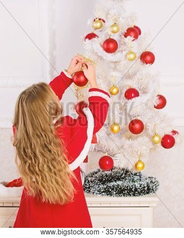 Child Celebrate Christmas At Home. Favorite Day Of The Year. Christmas Celebration. Get Incredibly E