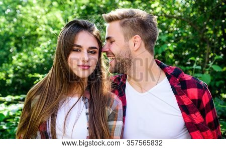 Couple In Love. Enjoying Each Other. Man Hipster And Pretty Woman In Love. Summer Vacation. Fall In