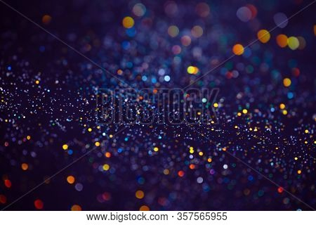 Decoration Bokeh Glitters Background, Abstract Blurred Backdrop With Circles, Modern Design Overlay