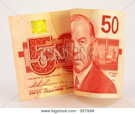 Canadian Money - 50 Fifty Dollar Bill