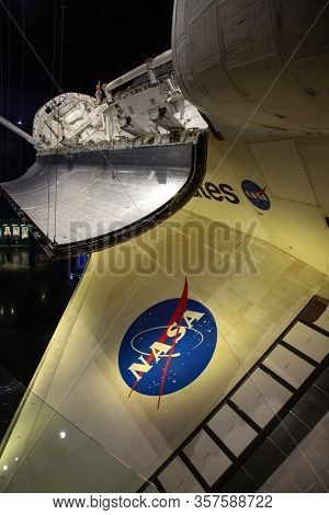 KENNEDY SPACE CENTER, FLORIDA, USA - APRIL 27, 2016: Space shuttle